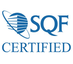 SQF Certified for food quality and safety