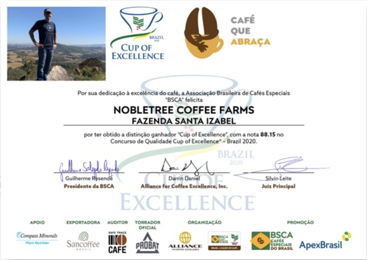 Nobletree Awards Cup of Excellence