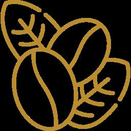 Coffee Beans & Leaf Icon