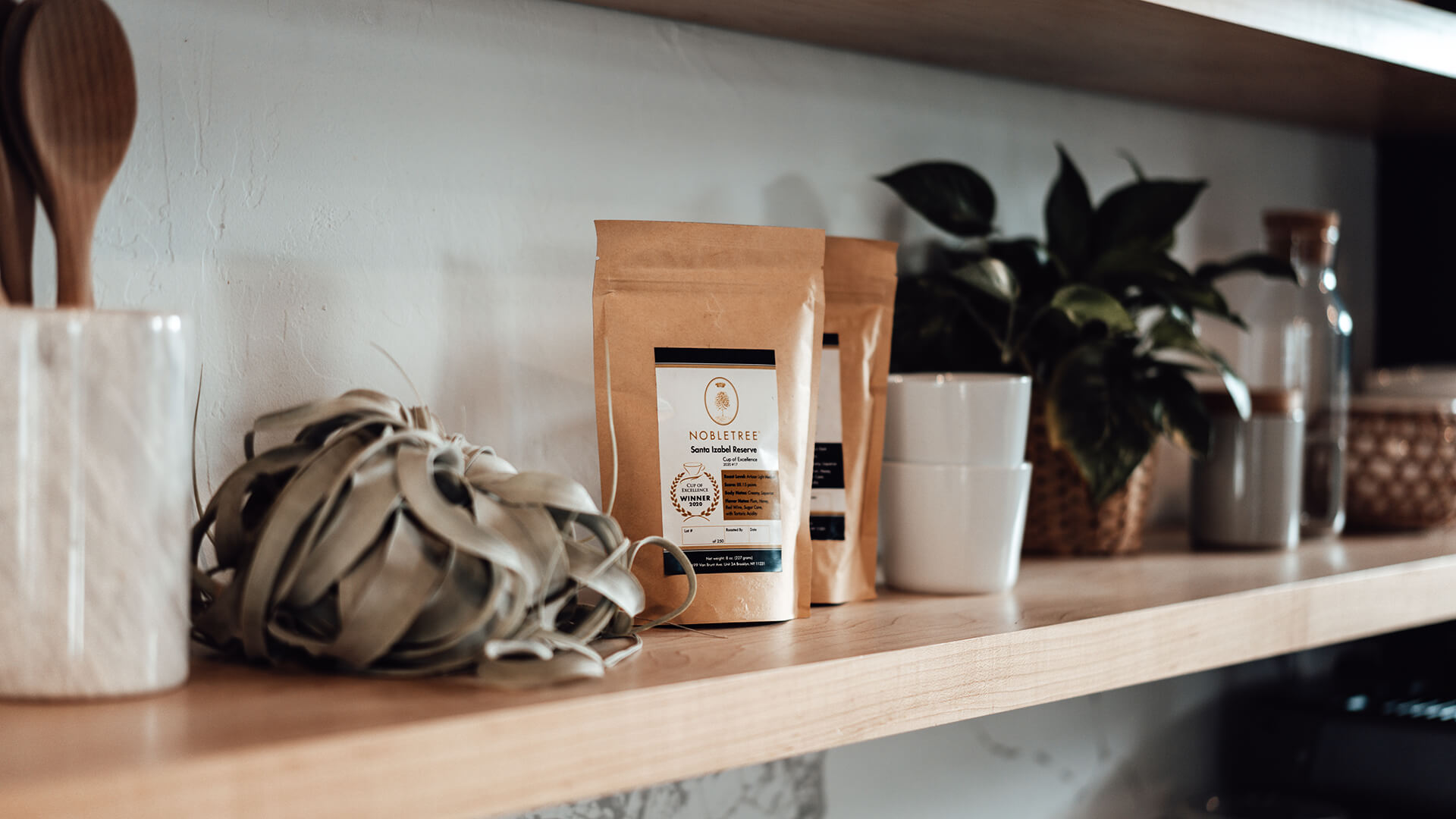 Nobletree Coffee Bags on Shelf