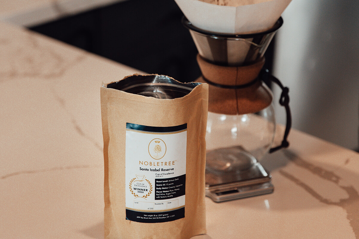 Nobletree Coffee ultra-premium 2020 cup of excellence roast